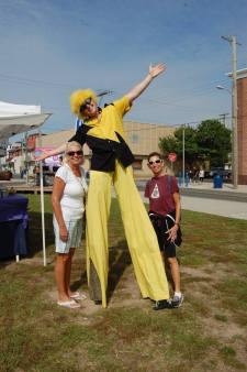 My classic Yellow Fellow at the Downtown Wildwood's Farmer's Market