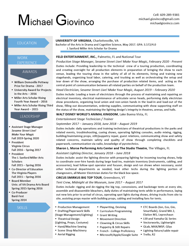 Resume March 2020 photo